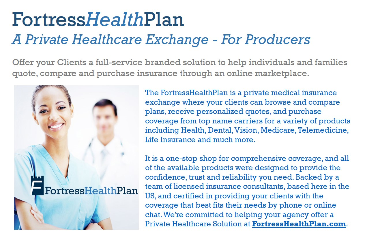 Medical Insurance Quotes Fortress Health Plan  Producers